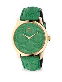 Gucci G-Timeless Gold PVD Case 38MM Pastel Green L