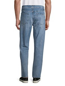 J Brand Eli Ripped Straight Tapered Jeans