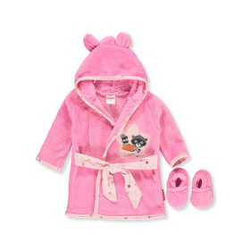 Fisher-Price Baby Girls' Hooded Robe and Slippers