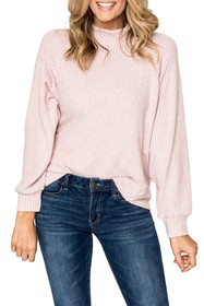 Gibson Ribbed Mock Neck Pullover Sweater