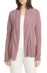 Eileen Fisher Horizontal Ribbed Open Front Cardiga