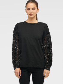 Donna Karan BOUFFANT SLEEVE TOP