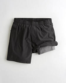 "Hollister Lined Hollister Everyday Short 7"", BLACK"