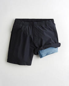 "Hollister Lined Hollister Everyday Short 7"", NAVY"