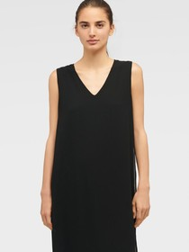Donna Karan SLEEVELESS V-NECK MIXED MEDIA OVERLAY