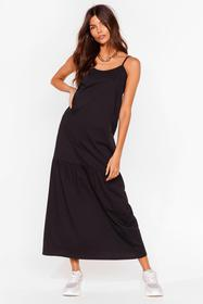 Nasty Gal Black Take Your Time Relaxed Maxi Dress