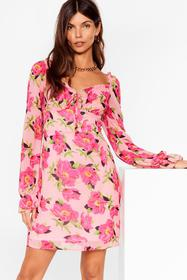 Nasty Gal Pink Oh Sweetheart Floral Mini Dress