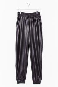 Nasty Gal Black Best Time Faux Leather High-Waiste