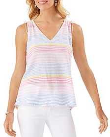 Tommy Bahama - Harbour Striped Linen Blend Shell