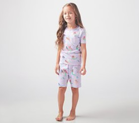 Pottery Barn Organic Mermaid Short Sleeve Pajama