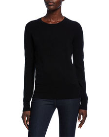 Neiman Marcus Cashmere Collection Classic Crewneck