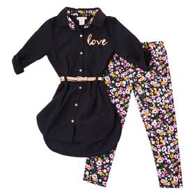 Girls (7-16) One Step Up Belted Tunic with Foil Lo