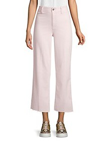 Paige Jeans Nellie High-Waist Raw Hem Jean Culotte
