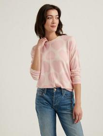 Lucky Brand Cloud Jersey Hearts Pullover Sweatshir