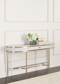 Alexandra Demilune Console Table