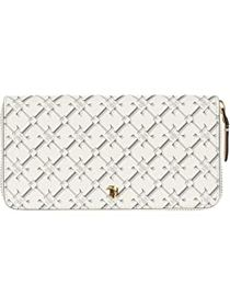 LAUREN Ralph Lauren Coated Canvas Zip Wallet Mediu