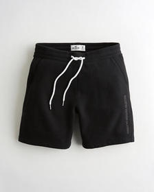 "Hollister Fleece Jogger Short 7"", BLACK"