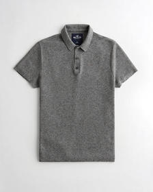 Hollister Sweater Polo, DARK HEATHER GREY