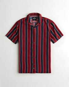 Hollister Hollister Summer Shirt, RED STRIPE