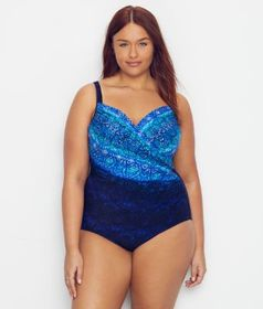 Miraclesuit Plus Size Blue Curacao Underwire One-P