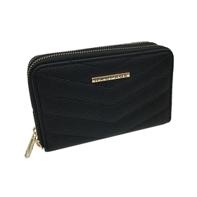 Womens Rampage Quilted Double Zip Midi Wallet