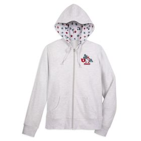 Disney Mickey and Minnie Mouse Americana Zip-Up Sw