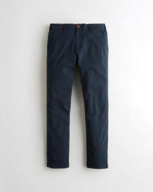 Hollister Slim Straight Chino Pants, NAVY WITH BRO