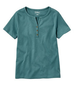 LL Bean Women's L.L.Bean Tee, Short-Sleeve Splitne