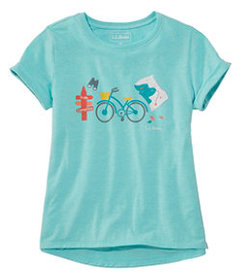 LL Bean Girls' Pathfinder Tee, Short Sleeve, Graph