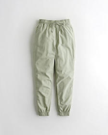 Hollister Ultra High-Rise Woven Joggers, OLIVE