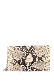 Rebecca Minkoff Edie Leather Python Embossed Walle