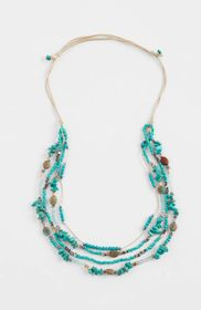 Turquoise Skies Beaded-Strands Necklace