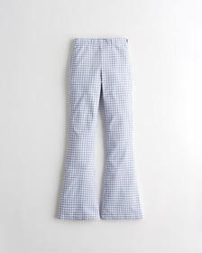 Hollister Ultra High-Rise Flare Pants, BLUE CHECK