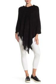 Vertigo Textured Sequin Knit Fringe Pullover Ponch