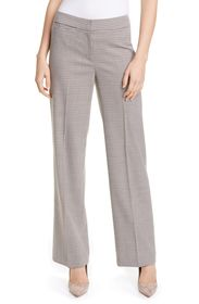 Nordstrom Signature Houndstooth Check Wide Leg Tro