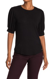 T Tahari Elbow Blouson Sleeve Top
