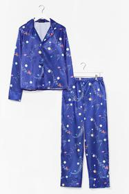 Nasty Gal Navy Supersonic Rocket Ship PJ Pants Set