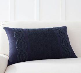 Pottery Barn Perla Embroidered Lumbar Pillow Cover