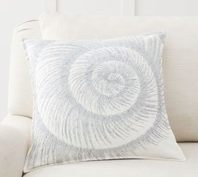 Pottery Barn Oceanic Swirl Embroidered Pillow Cove