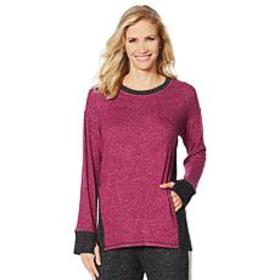 """""""As Is"""" Soft & Cozy Colorblock Sweater Knit Hi-Low"""