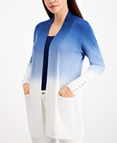 Dip-Dyed Button-Trimmed Cardigan, Created for Macy