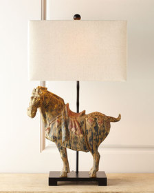 Regina Andrew Dynasty Horse Lamps Set of Two