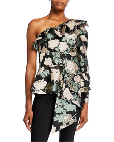 Mestiza New York Micaela Floral Jacquard One-Shoul