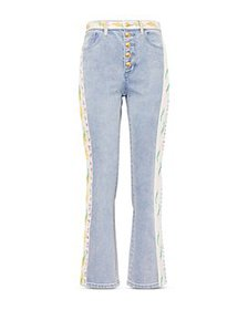 Tory Burch - Embellished Flare Jeans in Super Blea