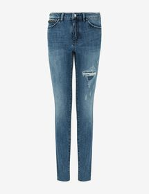 Armani J27 SUPER-SKINNY BUTTON-FLY JEANS