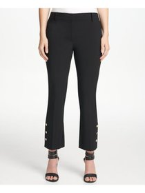 DKNY Womens Black Wear To Work Pants Petites Size: