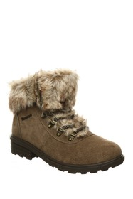 BEARPAW Serenity Faux Fur Lace-Up Boot