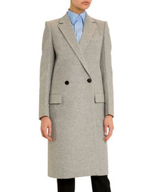 Givenchy Long Brushed Wool-Cashmere Overcoat