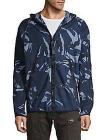 G-Star RAW Camouflage-Print Hooded Jacket