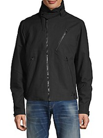 G-Star RAW Hooded Zip-Front Cotton Jacket